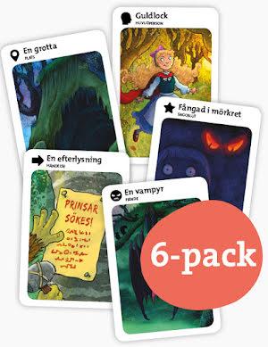 Skruvade sagor 6-pack med 6 stycken kortlekar