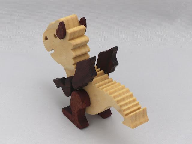 Handmade Wood Baby Dragon