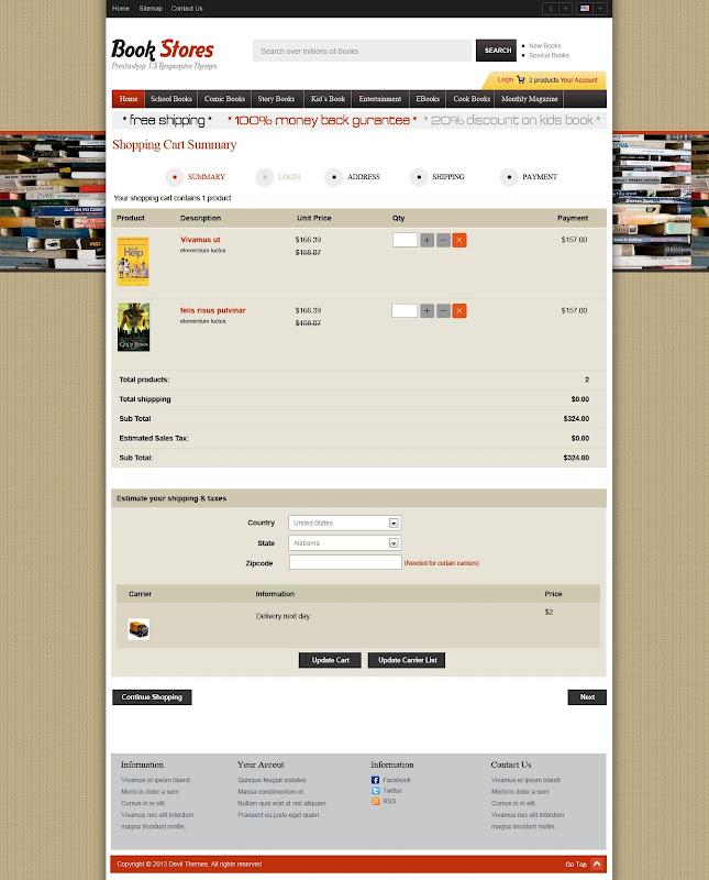 Shopping Cart - Book Store 1.0