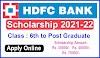 hdfc bank scholarship 2021 apply online/ hdfc bank scholarship 2021 22/ free scholarships 2021