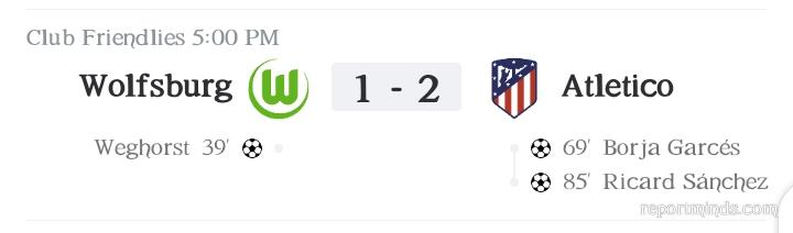 Friendly: Atletico Madrid defeat Wolfsburg 2-1 (Highlights) 2021-2022