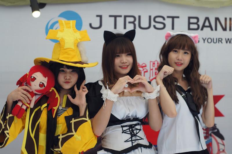 Cosplay di booth salah satu sponsor acara Ennichisai 2016