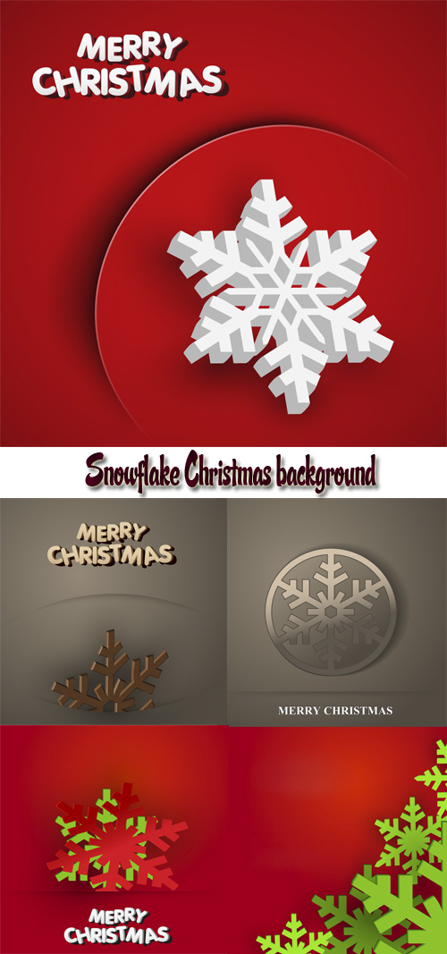 Stock: Snowflake Christmas background