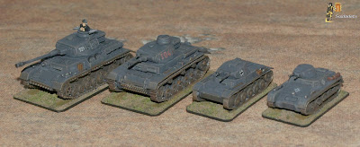 Panzers IV to I