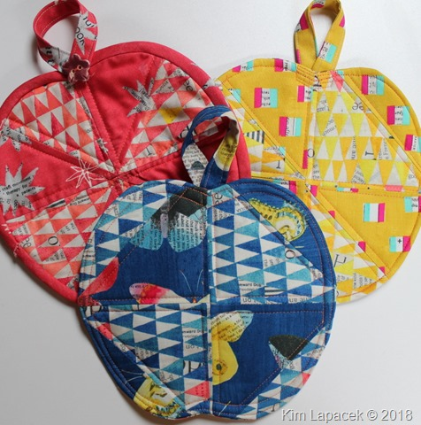 Patchwork Apple Potholder Tutorial by Kim Lapacek