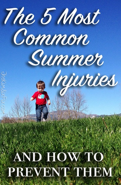 The 5 most common injuries to children during the summer months and what you can do to prevent them
