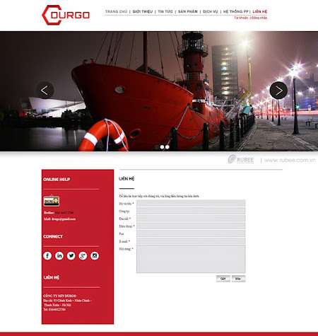 Thiết kế website Durgo 2 đẹp