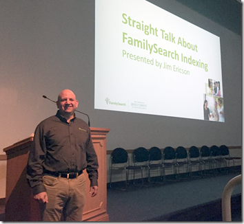 Jim Ericson of FamilySearch addressed the 2016 BYU Conference on Family History and Genealogy