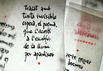 Pàgina manuscrita - Escrits en tinta invisible