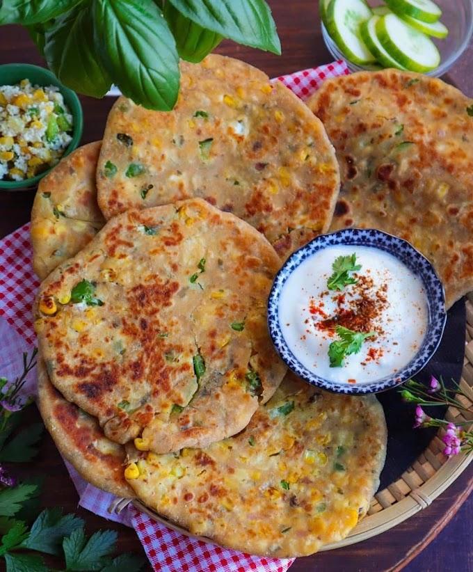 Paneer Capsicum & Corn Paratha Recipe | Brekfast Care