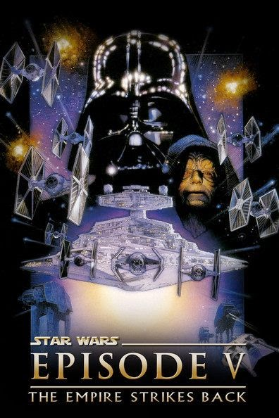 Poster Of Star Wars: Episode V - The Empire Strikes Back (1980) Full Movie Hindi Dubbed Free Download Watch Online At Alldownloads4u.Com