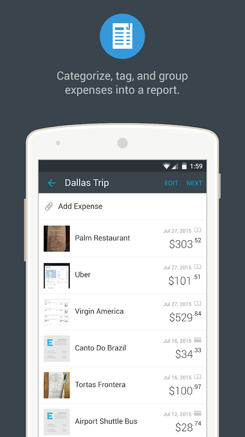 Expensify - Expense Reports- screenshot