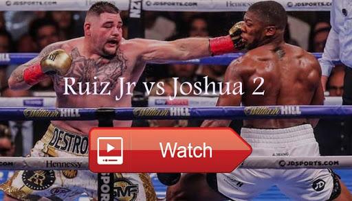 Image result for Ruiz Jr vs Joshua 2 Live