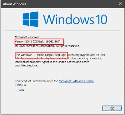 Cara Cek Versi dan Build Number Windows 10
