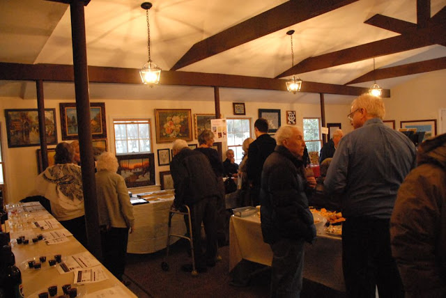 Guests arrive at the first-ever Art Show and Wine Tasting hosted at St. Andrews.