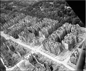 Hamburgo tras el bombardeo de 1943