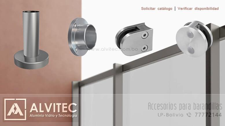 Accesorios para barandillas de aluminio