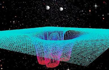 fusão de dois buracos negros