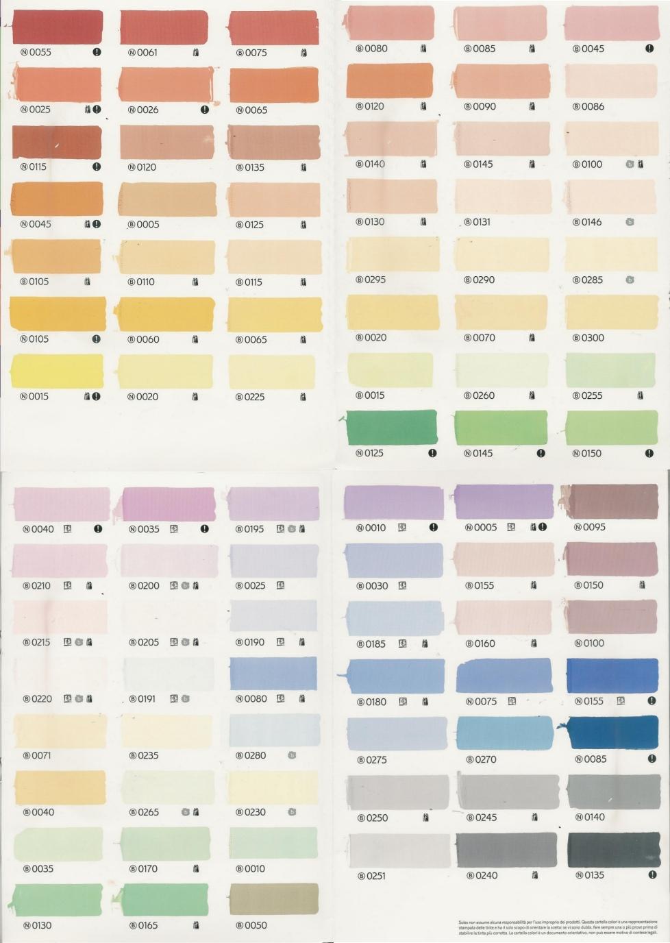 catalogo colori per pareti interne
