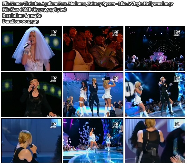 Christina Aguilera FeatMadonna Britney Spears Like A Virgin Hollywood HD
