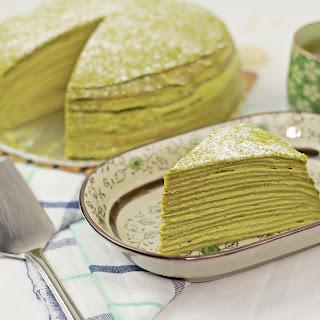 Matcha Mille Crepe Cake.