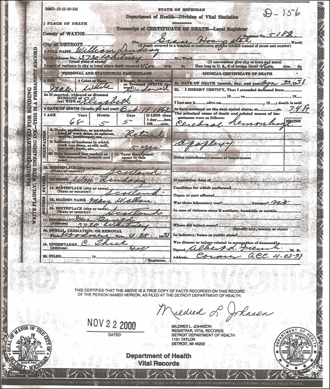 LINDSAY_William_1862-1931_death cert_Michigan