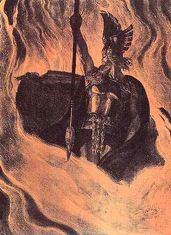 Wotan Summons Loge Magic Fire 2, Asatru Gods And Heroes