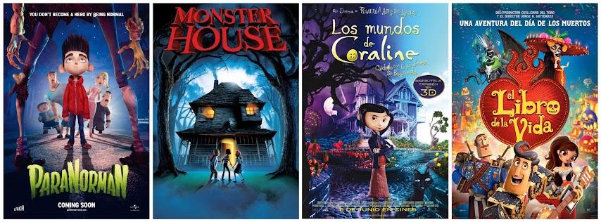 Paranorman, Monster House, Los mundos de Coraline y el libro de la Vida
