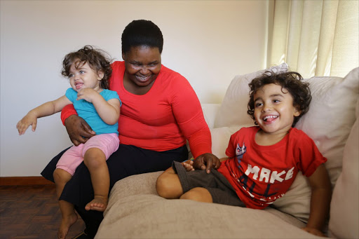 Princess Thembani speaks only Xhosa to Declan, 3, and 15-month-old Madison