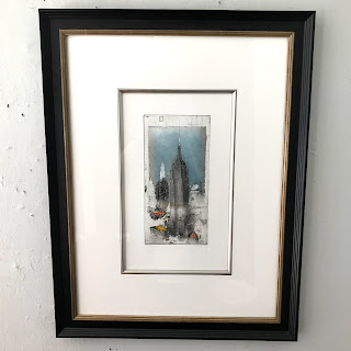 Alexander Befelein Signed 'Empire State Building' Etching (Large)