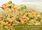 Broccoli and White Bean Mac and Cheese