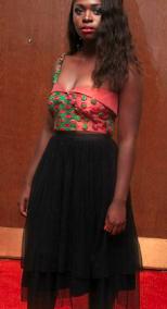 ankara dresses, red