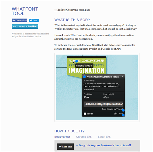 Como identificar fontes usadas em um website - Visual Dicas