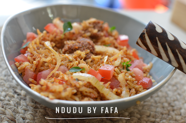 Ndudu by fafa corned beef jollof rice recipe 250g of basmati rice forumfinder Image collections