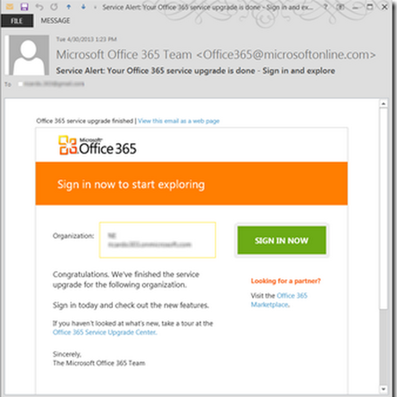 My Office 365 Upgrade to SharePoint 2013