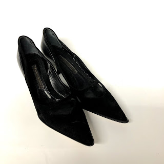 Narciso Rodriguez Black Kitten Heels