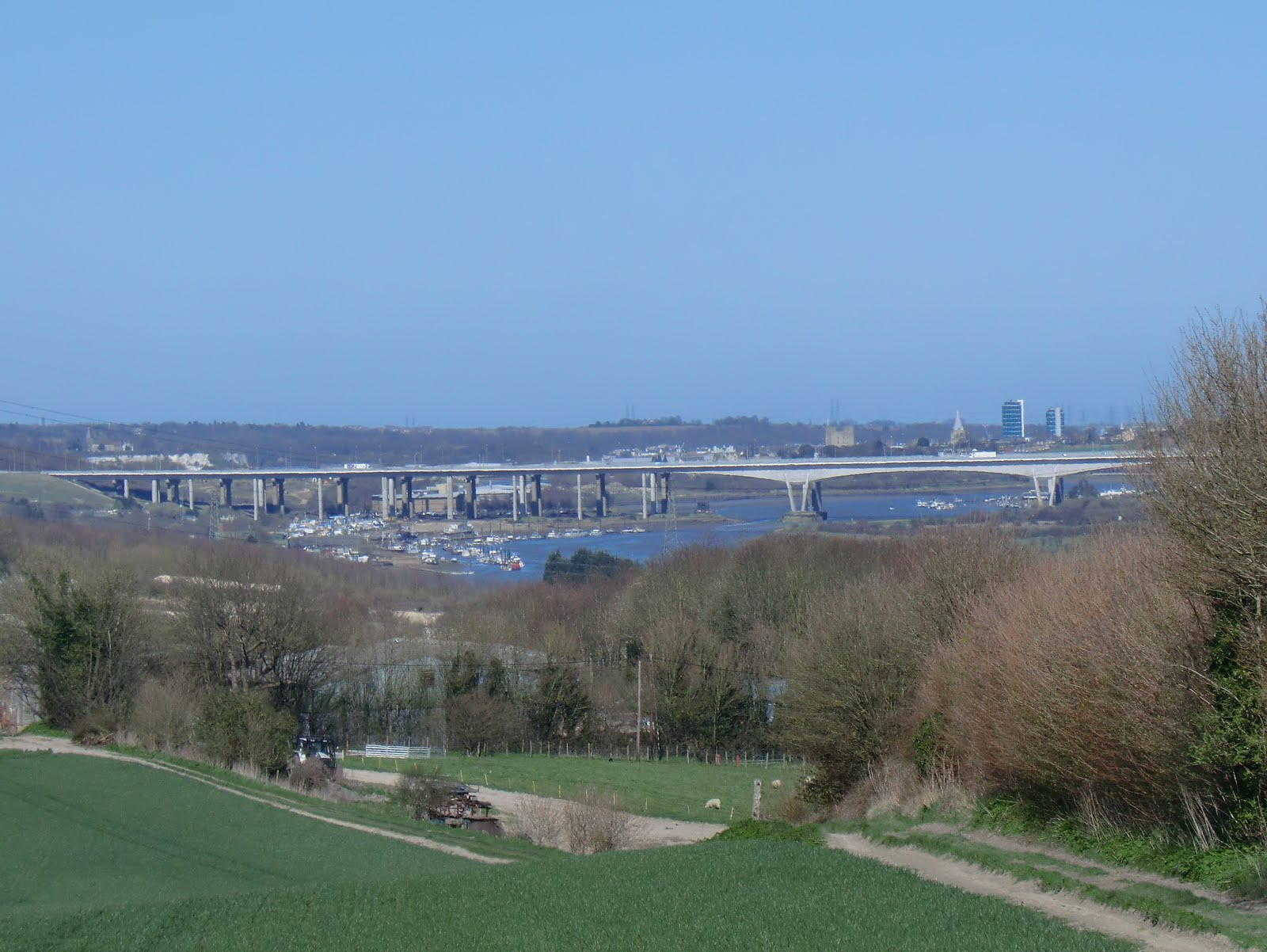 CIMG6282 Distant view of the Medway River Crossings