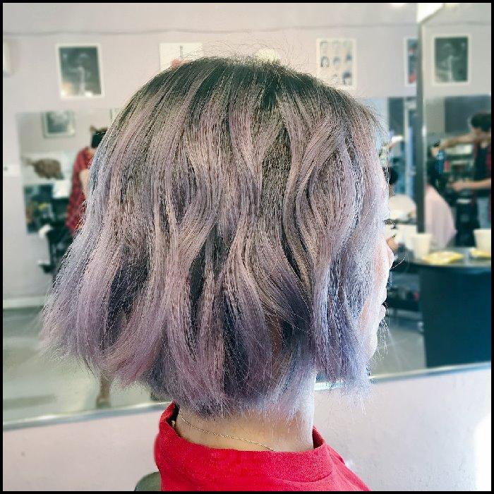 Womens modern bob hairstyle