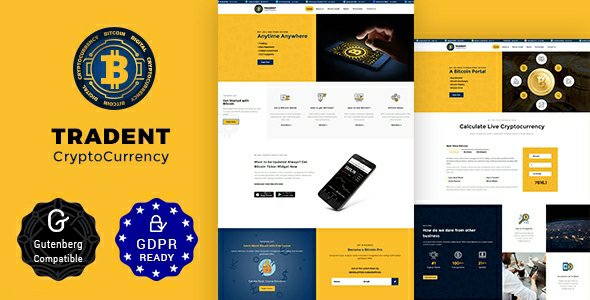 Tradent v1.7 – Bitcoin, Cryptocurrency Theme