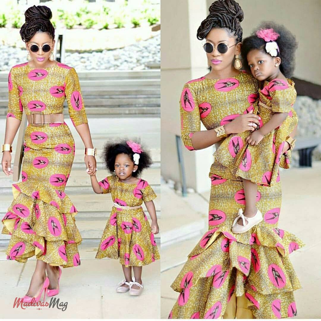 THE ENVIABLE ANKARA LADIES STYLES YOU SHOULD STEAL FROM MUM AND DAUGHTER IN 2018 4