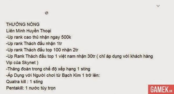Chơi game giỏi được tiền tại nhiều quán net Việt Nam