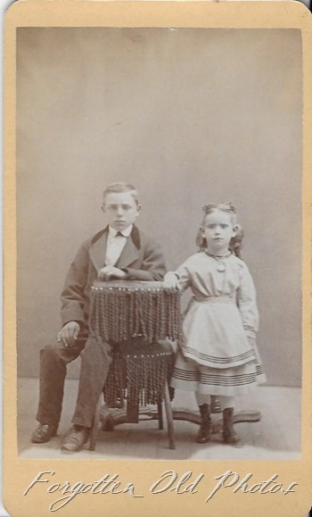 Two children CdV Parkers Prairie