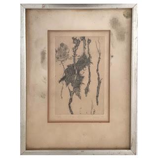 Juvenal Sansó Signed 'Flower & Roots' Etching