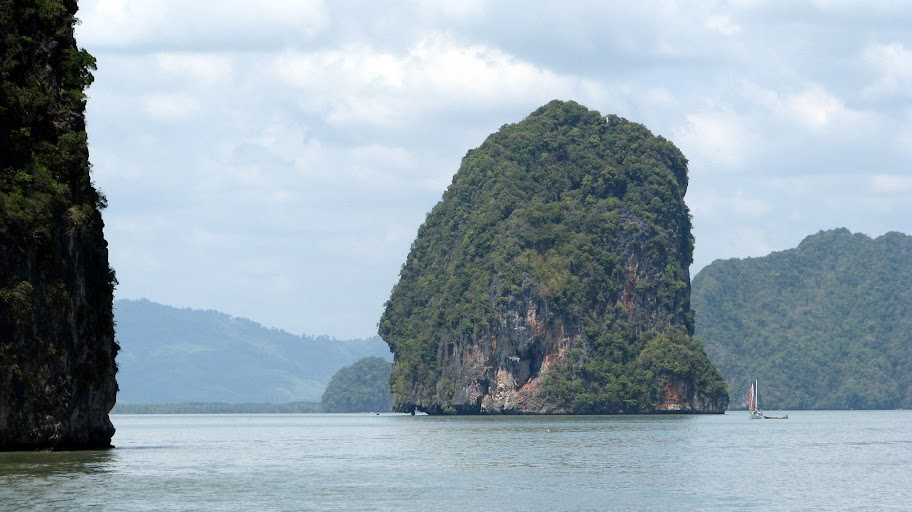 View of large rock, Phang Nga Bay