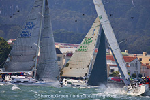 J/120s sailing upwind- credit Sharon Green/ Ultimate Sailing