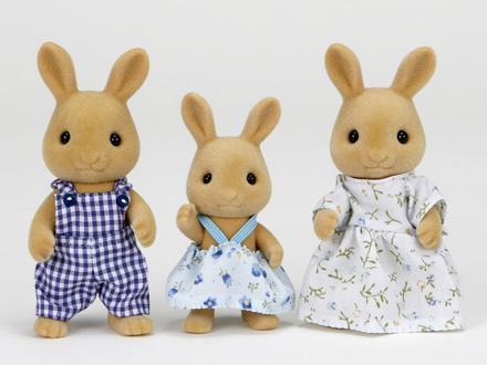 Gia đình thỏ nâu Epoch Ocher Rabbit Family