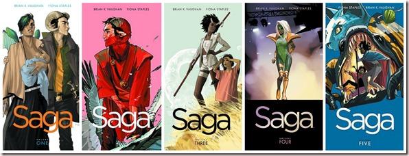 Saga Volumes 1-5