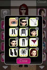 Click to Enlarge - Style Me Girl Level 50 - Biker Chick Chic - Annie - Closet