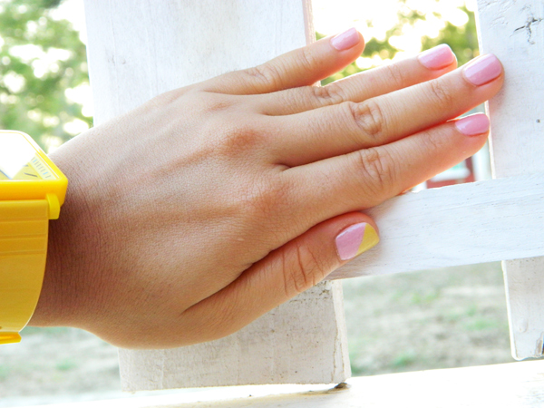 pastel colored nails with OPI