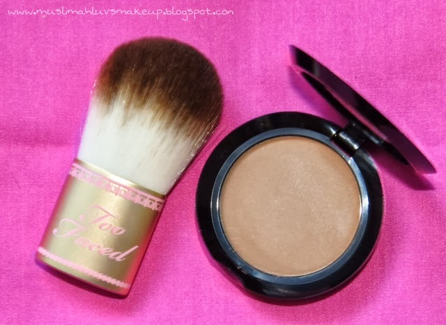too faced kabuki brush. kabuki brush is super soft. too faced